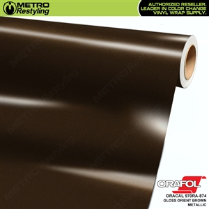 ORACAL 970RA-874 Gloss Orient Brown Metallic Premium Vinyl Auto Wrap