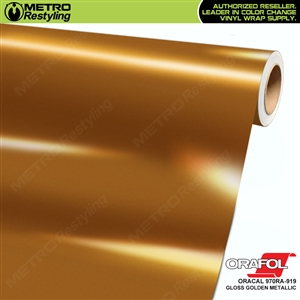 ORACAL Series 970RA High Gloss Golden Metallic Vinyl Wrap Film W/Rapid Air