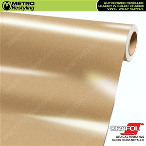 gloss brass metallic wrap