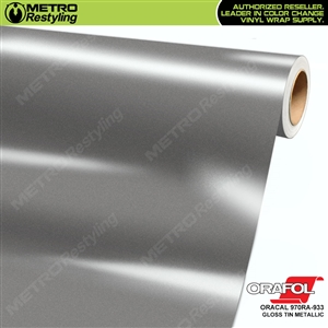 ORACAL 970RA-933 Gloss Tin Metallic Premium Vinyl Auto Wrap