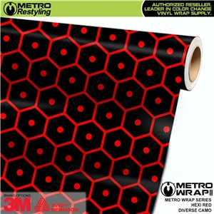 Metro Diverse Series Hexi Red Camouflage Vinyl Car Wrap Film