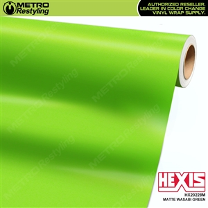 Hexis HX20228M Matte Wasabi Green vehicle vinyl wrap film