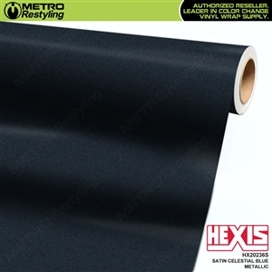 Hexis Satin Celestial Blue Metallic car vinyl wrapping film