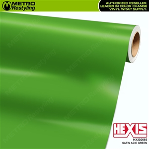 Hexis Satin Acid Green car vinyl wrapping film