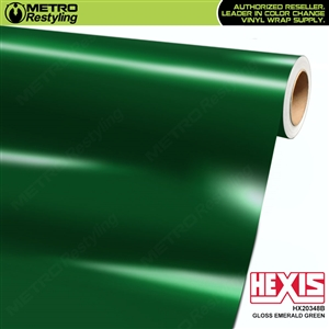 Hexis Gloss Emerald Green Vinyl Wrap | HX20348B