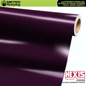 Hexis HX20352B Gloss Elderberry Purple vehicle vinyl wrap film