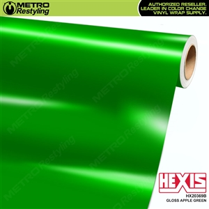 Hexis Gloss Apple Green Vinyl Wrap | HX20369B