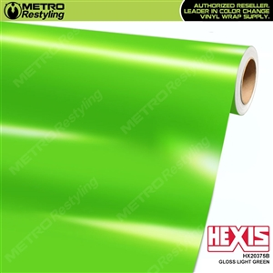 Hexis Gloss Light Green Vinyl Wrap | HX20375B