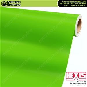 Hexis Matte Light Green Vinyl Wrap | HX20375M