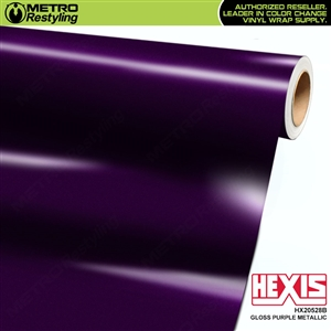 Hexis  Gloss Purple Metallic car vinyl wrap film