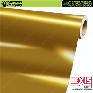 Hexis Gloss Gold Metallic Vinyl Wrap | HX20871B