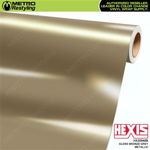 Hexis Gloss Bronze Grey Metallic Vinyl Wrap | HX20948B