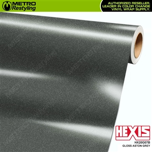 Hexis HX20G07B Gloss Aston Grey car vinyl wrap