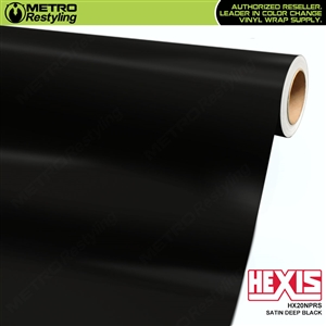 Hexis HX20NPRS Satin Deep Black Vehicle Vinyl Wrap Film for full car wraps.