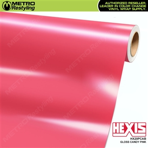 Hexis Gloss Candy Pink Vinyl Wrap | HX20PCAB