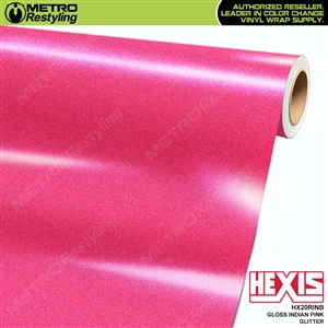 Hexis Gloss Indian Pink Glitter Vinyl Wrap | HX20RINB