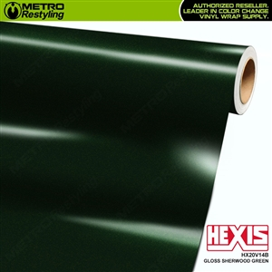 Hexis HX20V14B Gloss Sherwood Green car vinyl wrap