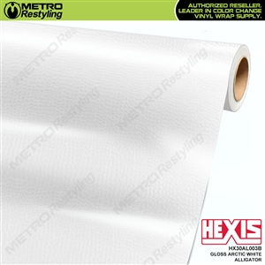 Hexis Gloss Arctic White Alligator Vinyl Wrap | HX30AL003B