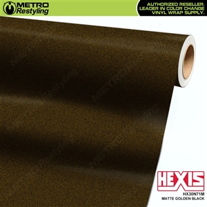 Hexis HX30N71M Matte Golden Black car wrap vinyl film