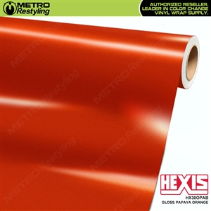 Hexis Gloss Papaya Orange Vinyl Car Wrap | HX30OPAB