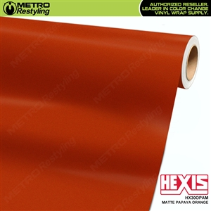 Hexis Matte Papaya Orange Vinyl Car Wrap | HX30OPAM