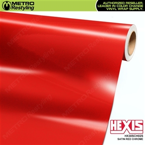 hexis satin red super chrome vinyl wrap