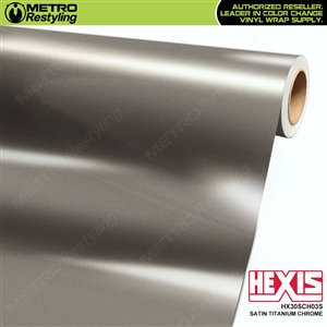Hexis HX30SCH03S Satin Titanium Super Chrome automotive vinyl wrap film