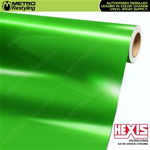 Hexis HX30SCH04S Satin Green Super Chrome auto vinyl wrap film