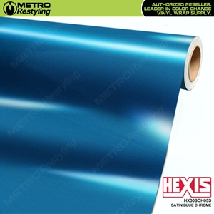 Hexis HX30SCH05S Satin Blue Super Chrome car vinyl wrap film