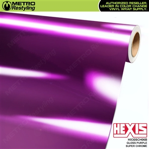 Hexis Gloss Purple Super Chrome Vinyl Wrap | HX30SCH06B
