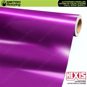 Hexis HX30SCH06S Satin Purple Super Chrome vehicle vinyl wrap film