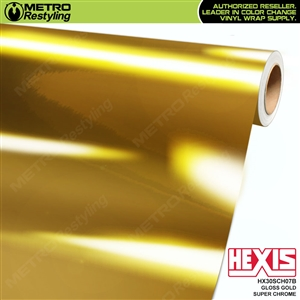 Hexis Gloss Gold Super Chrome Vinyl Wrap | HX30SCH07B