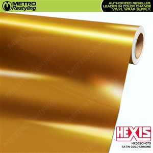 Hexis HX30SCH07S Satin Gold Super Chrome auto vinyl wrap film