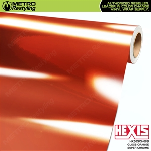 Hexis Gloss Orange Super Chrome Vinyl Wrap | HX30SCH08B