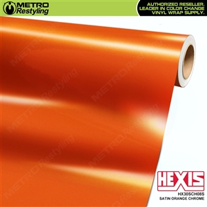 Hexis HX30SCH08S Satin Orange Super Chrome car vinyl wrap film
