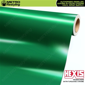 Hexis HX30SCH09S Satin Turquoise Super Chrome vehicle vinyl wrap film