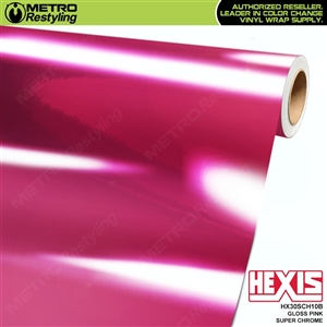 Hexis Gloss Pink Super Chrome Vinyl Wrap | HX30SCH10B