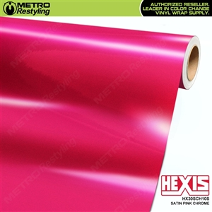 Hexis HX30SCH10S Satin Pink Super Chrome vinyl car wrap film