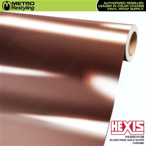 Hexis Gloss Rose Gold Chrome Vinyl Wrapping film HX30SCH12B