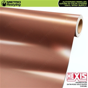 Hexis HX30SCH12S Satin Rose Gold Super Chrome vehicle vinyl wrap film