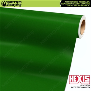 Hexis Matte Boston Green Vinyl Wrap | HX30VBOM