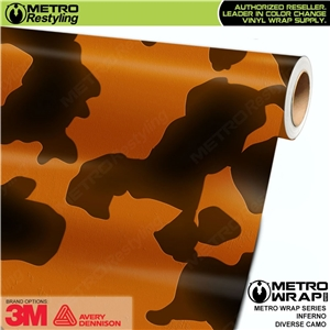 Metro Diverse Series Inferno Camouflage Vehicle Vinyl Wrap Film