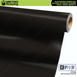 KPMF K75326 Matte Bayou Black vinyl vehicle wrap film
