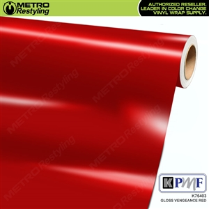 KPMF K75403 Gloss Vengeance Red vinyl vehicle wrap film