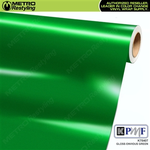 KPMF K75407 Gloss Envious Green vinyl vehicle wrap film
