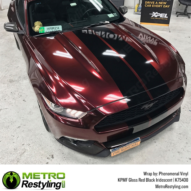Matte Car Paint >> KPMF K75400 Series Gloss Red Black Iridescent color shift vinyl wrap