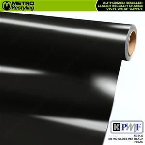 KPMF K75422 Metro Gloss Wet Black Pearl vinyl vehicle wrap film