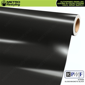 KPMF K75440 Gloss Magnetic Black vinyl vehicle wrap film