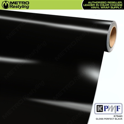 KPMF K75443 Gloss Perfect Black vinyl vehicle wrap film