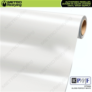 KPMF K75444 Gloss Perfect White vinyl vehicle wrap film